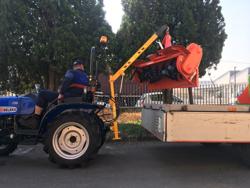grue hydraulique pour micro tracteurs comme kubota iseki mod el 200