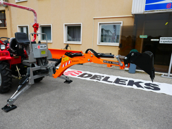 pelle rétro universelle pour micro tracteur dk 950