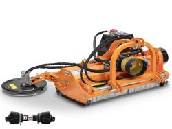 broyeur à marteaux avec disque intercep pour tracteur fruitier mod interfila 130