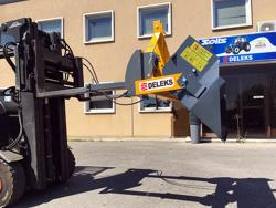 godet 180cm pour chariot élévateur avec support de fourches mod pri 180 hm