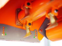 broyeur à marteaux réversible pour tracteur utilisation frontale mod rino 200 rev