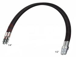 2 flexibles hydraulique de 4 00m