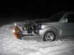 lame à neige pour véhicules off road 4x4 lns 210 j