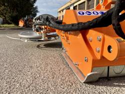 broyeur à marteaux avec disque intercep pour tracteur fruitier mod interfila 150