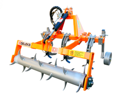 decompacteur sous soleuse a 3 dents avec rouleau brise mottes pour tracteur dc300h
