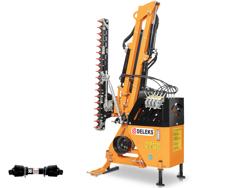 epareuse hydraulique pour tracteur avec broyeur ou taille haie mod airone 130 tr