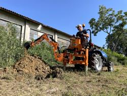 pelle rétro universelle pour micro tracteur drs 1000t