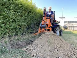 pelle rétro universelle pour micro tracteur drs 1000