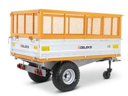 remorque tri benne agricole pour tracteur 2 tonnes modèle rm 14t3s