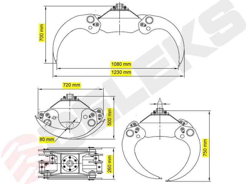 grappin-à-bois-avec-rotateur-360-continue-modèle-dk-11c-gr-30ff