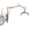 grues forestières pour tracteurs avec grappin et rotateur tournant à 360 pour déplacer des troncs d abres